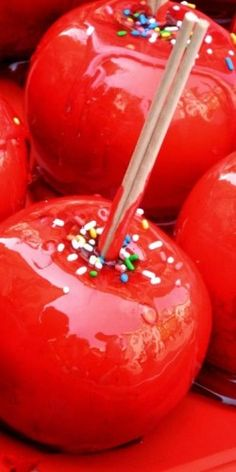 Red Toffee Apples