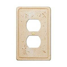 Amerelle 8347D Cortina Faux Stone Single Duplex Outlet Wall Plate Cover, Toasted Almond – Wall Switch Plates – Residential Lighting - GreyDock.com