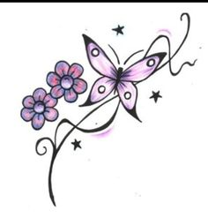 Butterfly tattoo designs – foot tattoos for women flowers Butterfly Tattoos For Women, Butterfly Back Tattoo, Butterfly Tattoo Designs, Butterfly Flowers, Butterfly Design, Tattoo Designs For Women, Butterflies, Henna Butterfly, Butterfly Project