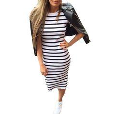 女性のファッションストライプロングマキシoネック襟dress自由奔放に生きるセクシーなサテンスリップファッショナブルなdress女性夏2017