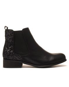 Chelsea boots noirs à paillètes pas cher                                                                                                                                                                                 Plus