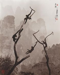 Don Hong-Oai.   Once upon a tree  Photography in the style of a traditional Chinese painting of late Song and Yuan dynasties.