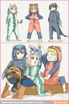 Team 7 - Naruto, Sasuke, Sakura and Kakashi Naruto Team 7, Naruto Uzumaki Shippuden, Naruto Shippuden Sasuke, Naruto Kakashi, Naruto Comic, Manga Naruto, Naruto Sasuke Sakura, Naruto Cute, Team Minato