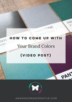 EFFECTIVE USE OF BRAND COLORS CAN INCREASE BRAND RECOGNITION BY 80%.  So the colors you choose are undoubtedly important…how do you decide which ones to use then? And how do you build a brand palette from them?  I created a video for you today that will take you through using 3 different tech-tools that will help you to do just that. | http://www.amandacreekcreative.com/brand-colors/