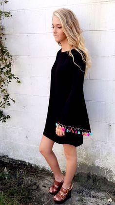 Judith March Fire Flies- This is the perfect dress! #judithmarch #blackdress #bebeautiful #shopb&b