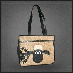 Sac shopping Shaun the Sheep. D'une bonne contenance, ce sac à main shopping Shaun le mouton pourra accueillir de nombreuses affaires.