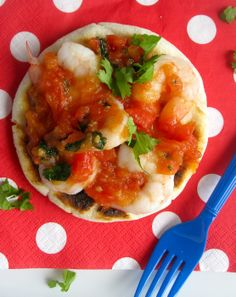 Arepa con Camarones y Hogao (Arepa with Shrimp and Creole Sauce)-Colombia