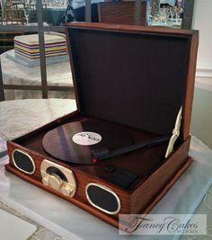 Record Player Cake Art