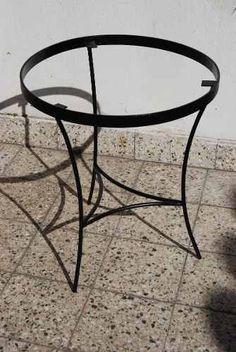 Diy Wooden Planters, Wooden Diy, Iron Furniture, Steel Furniture, Wrought Iron Chairs, Metal Workshop, Wooden Words, Metal Bending, Iron Table