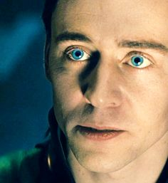Loki's baby blues.  How are you supposed to root for the good guy when the bad guy looks this good?