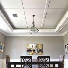 Kitchen Ceiling Design, New Ceiling Design, Kitchen Decor, Home Ceiling, Ceiling Decor, Ceiling Ideas, Ideas For Ceilings, Molding Ceiling, Coffered Ceilings