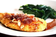 Almond Chicken with Strawberry Balsamic Sauce