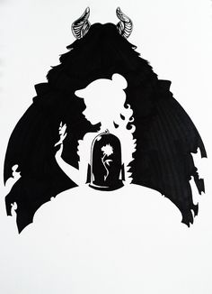 Beauty and the Beast Silhouette Art by Hoshino-Libra.deviantart.com on @DeviantArt
