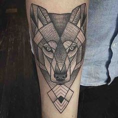 Geometric Wolf / Sussane König / East River Tattoo / NYC