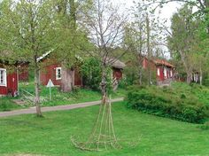 Fiskars Village, Finland. | Peltorivi is the upper street of the Fiskars ironworks. - http://www.fiskarsvillage.fi/en/see_and_do/history_architecture/peltorivi