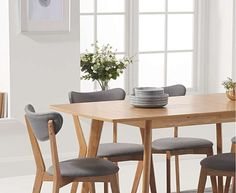 Lowville Extendable Dining Set with 6 Chairs Mikado Living - Size: Medium