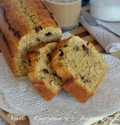 Plumcake al cappuccino con gocce di cioccolato ricetta senza burro | Vale cucina e fantasia