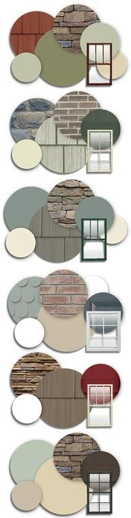 Exterior paint - love the one with blue shingles and old brick