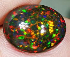 6.40 CT Top Gems Honeycomb Smoked Welo Opal