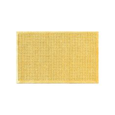 WaterGuard Squares Indoor Outdoor Mat, Yellow