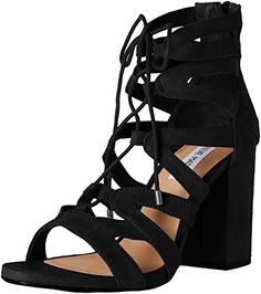 Steve Madden Womens Gal Dress Sandal Black 9 M US *** Trust me, this is great! Click the image.