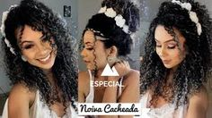 Resultado de imagem para penteados de noiva com cabelo cacheado