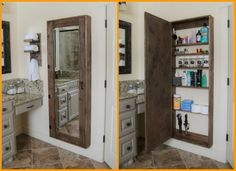 Image on The Owner-Builder Network  http://theownerbuildernetwork.co/easy-diy-projects/diy-storage-projects/diy-bathroom-mirror-storage/