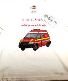 Ambulance T-shirt Ambulance, Boys T Shirts, Hand Painted, Kids, Painting, Young Children, Boys, Children, Painting Art