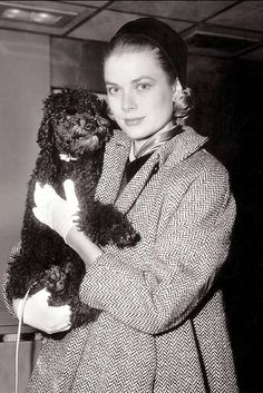 "i accidentally googled ""die kleinen schwarzen pudel"" (it was in my clipboard from a discussion about kleenex/liliput on facebook) and i came up with this photo of grace kelly and a little friend"