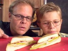 """Cuban Sandwich [in honor of the movie """"Chef""""]: use light hot dog buns or other light bread, use FF cheese (or RF and count), nothing to count for dill pickles in the quantity used per serving, instead of butter use butter-flavored nonstick cooking spray or use light butter and count; optional -- may use FF mayo instead of mustard"""