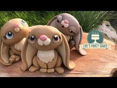 How to make fondant bunny cake topper / Jak zrobić królika z masy cukrowej - YouTube #caketutorial