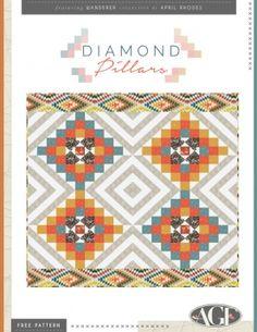 Diamond Pillars Quilt by AGF Studio