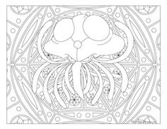 Free printable Pokemon coloring page-Tentacruel. Visit our page for more coloring! Coloring fun for all ages, adults and children. Boy Coloring, Cat Coloring Page, Coloring Book Pages, Coloring Pages For Kids, Coloring Stuff, Colorful Drawings, Colorful Pictures, Pokemon Coloring Sheets, Papercraft Pokemon
