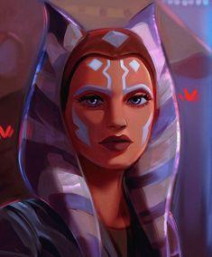 Star Wars Rebels, Star Wars Clone Wars, Penguin Watercolor, Character Art, Character Design, Star Wars Images, Ahsoka Tano, Star Wars Fan Art, Foto E Video