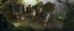 Spellforce 3 - Hybernian Temple Entrance, Raphael Lübke on ArtStation at https://www.artstation.com/artwork/6BW36