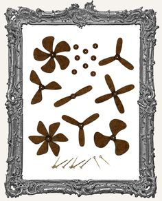 steampunk design cutouts | ATC FRAMES, WINDOWS, & CUT-OUTS - COFFEE BREAK…