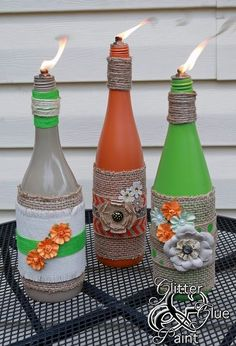 wine bottle wicks, crafts, repurposing upcycling