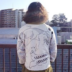 OMA overdrawing sweatshirt 62 〈satisfaction 〉mutation length,undead, 神話時代の動物たち|animals of the mythical period Gray L #softs#_OMA#overdrawing#sweatshirt#champion