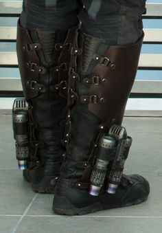 Detail of back of boots.