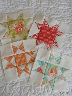 Summer Patchwork Sampler Quilt: Ohio Star