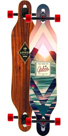 #longboarding Arbor Axis Koa Longboard