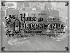 House of Wonderland Barbershop by Decade Type Foundry