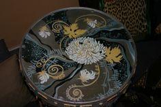 Tavolino decorato e dipinte a mano M Sambur
