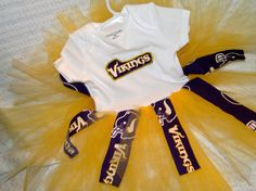 Minnesota Vikings Tutu Dress  18 months by RayneBelles on Etsy