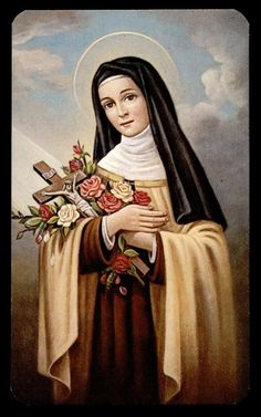 Saint Theresa of the Child Jesus and the Holy Face, Virgin and Doctor of the Church. Catholic Art, Catholic Saints, Patron Saints, Ste Therese, St Therese Of Lisieux, Lady Of Fatima, Santa Teresa, Blessed Virgin Mary, Art Icon