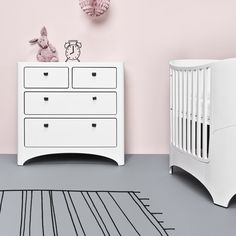 "Modern and well-constructed - Tulip's Leander ""4-in-1"" Convertible Crib."
