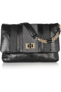 35b6011bccc Anya Hindmarch Stripy Gracie elaphe, stingray and leather shoulder bag