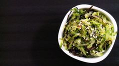 Salade japonaise Solution Gourmande, Guacamole, Cabbage, Portion, Yummy Food, Asian, Dishes, Vegetables, Ethnic Recipes