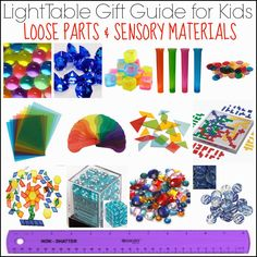 Light Table Gift Guide for Kids: Loose Parts & Sensory Materials from And Next Comes L