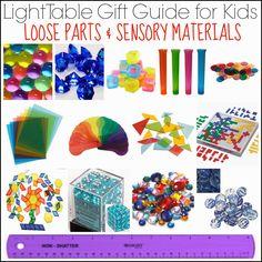 Guide cadeaux Table lumineuse pour les enfants: pièces détachées et matériaux sensoriels partir Et Suivant Comes L